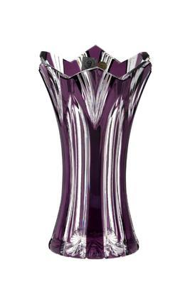 Bohemia Crystal Geschliffene Vase Lotos 80029/0/76542/205 mm – Violett