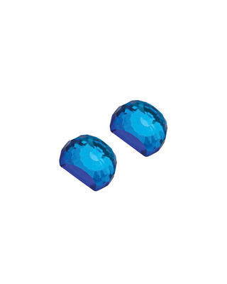 Silberne Ohrringe Miltonia mit böhmischem Kristall Preciosa