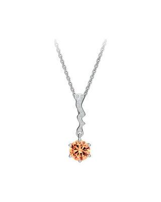 Bohemia Crystal Tilia Silver Pendant with Preciosa Cubic Zirconia, SV. Peach 5281 61 - 1