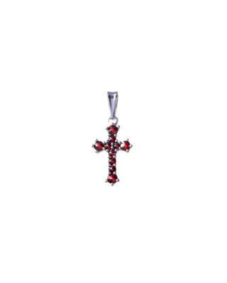 Silver pendant with Czech garnet - 1