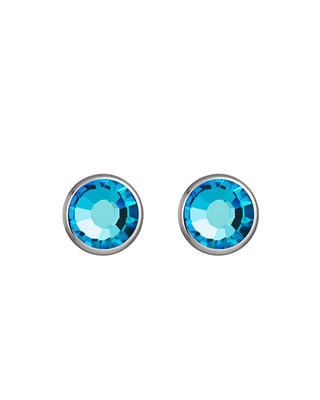 Earrings Made of Surgical Steel Carlyn with Czech Crystal - Blue 7235 46