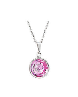 Bohemia Crystal Livia Pendant with Czech Crystal 2150 55L - Pink