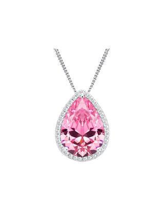 Bohemia Crystal silberner Anhänger Rose mit kubischem Zirkonium Preciosa 5225 69