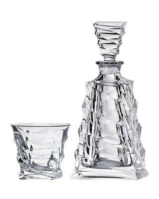 Bohemia Crystal set na whisky a koňak Casablanca (1 karafa + 6 pohárov)