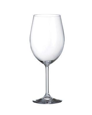 Bohemia Crystal Rotweingläser Lara 40415/450 ml (Set mit 6 Stück)