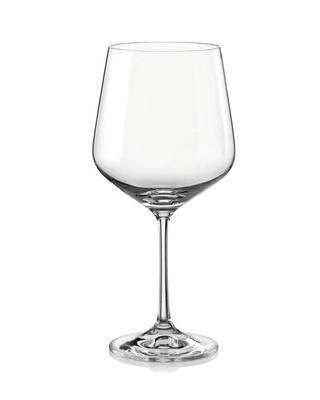 Bohemia Crystal Rotweingläser Sandra 40728/570 ml (Set mit 6 Stück)