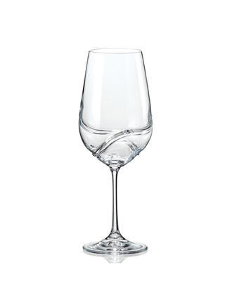 Bohemia Crystal Turbulence Wine Glass 350ml (set of 2 pcs) - 1