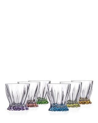 Bohemia Crystal Colored Plantica Whiskey Tumbler 320ml (set of 6 pcs)