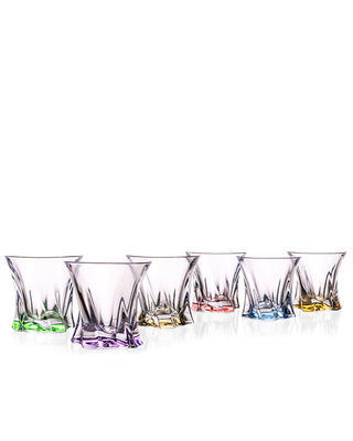 Bohemia Crystal Cooper Colored Whiskey Tumbler 320ml (set of 6 pcs)