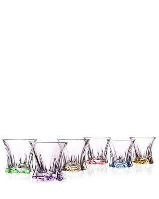 Bohemia Crystal Barevné sklenice na whisky Cooper 320m (set po 6ks)