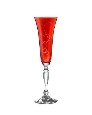 Bohemia Crystal Sklenice na šampaňské Victoria Love 40727/K0111/180ml (set po 2ks)