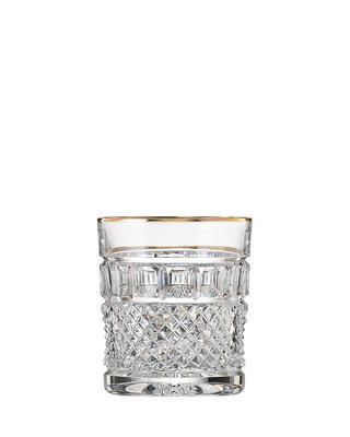 Bohemia Crystal hand cut whiskey glass Felicie Line Gold 300ml (set of 2pcs)