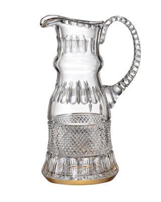 Bohemia Crystal hand cut jug Felicie Line Gold 1.2l