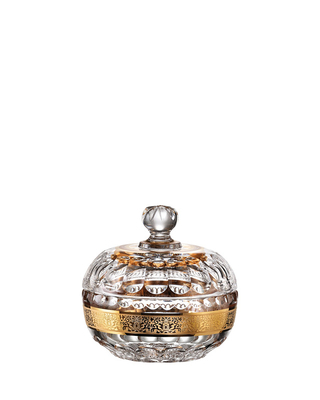 Bohemia Crystal Hand Cut Box with Lid Romantic 130mm