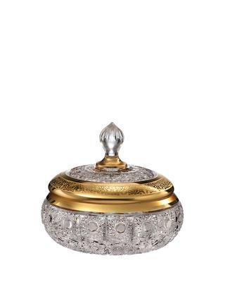Bohemia Crystal hand cut box with lid Romantic Horizont 220mm