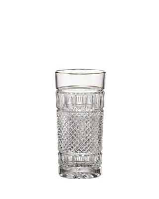 Bohemia Crystal ručne brúsené poháre na vodu a nealko nápoje Felicie Line Gold 350ml (set 2 ks)