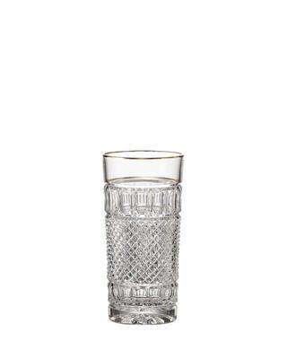 Bohemia Crystal handgeschliffene Gläser für Wasser und alkoholfreie Getränke Felicie Line Gold 350 ml
