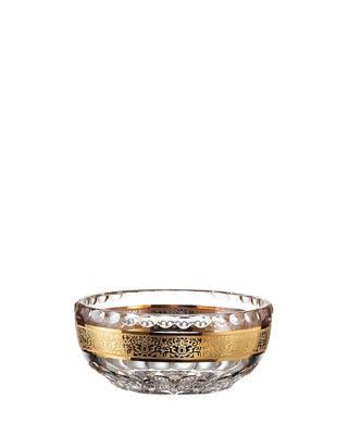 Bohemia Crystal hand cut compote bowl Romantic 205mm