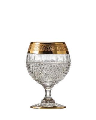 Bohemia Crystal Hand cut glasses for Brandy Felicie Romantic 220ml (set of 2pcs)