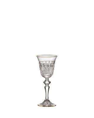 Bohemia Crystal ručne brúsené poháre na likér Felicie Line Gold 60ml (set po 2ks)