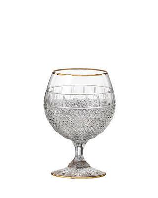 Bohemia Crystal Handgeschliffene Brandygläser Felicie Line Gold 220 ml (Set mit 2 Stück)