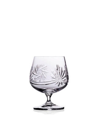 Bohemia Crystal Hand Cut Brandy and Cognac Glasses 250ml (set of 6 pcs)