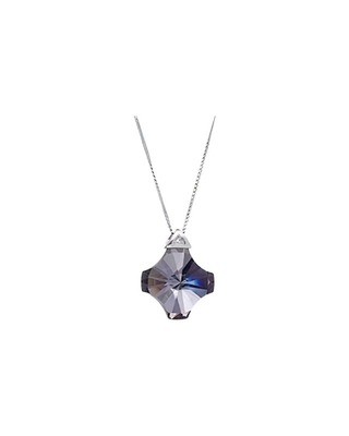Bohemia Crystal North Star Silver Pendant with Preciosa Cubic Zirconia  - chr 6299 40L - 1