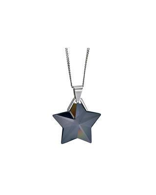 Silver Pendant North Star - Ag925 / Rh, chr 6299 40L