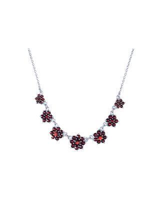 Stříbrný náhrdelník s českým granátem  - 1