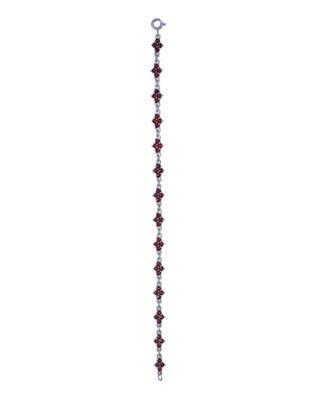Strieborný náramok s českým granátom - 1