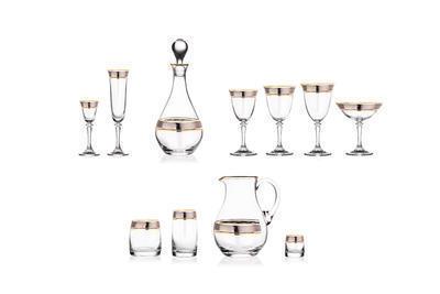 Bohemia Crystal Poháre na šampanské Kleopatra 1SC33/43249/180ml  (set po 6 ks) - 2