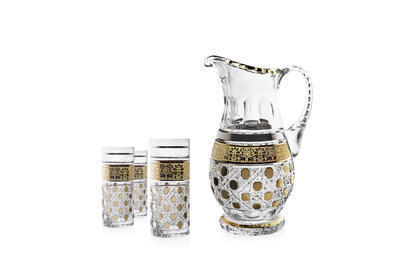 Tumbler 350ml decor stone/gold (set of 6 pcs) - 2