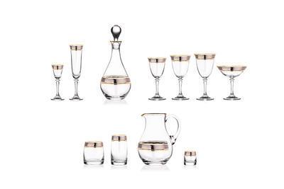 Bohemia Crystal Sklenice na šampaňské Kleopatra 180ml  (set po 5ks) SLEVA-neúplný set - 2