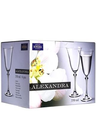 Bohemia Crystal Alexandra red wine glass 350ml (set of 6pcs) - 2