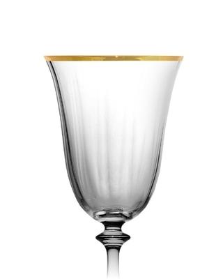 Bohemia Crystal Weingläser Angela Optic Gold Line 250 ml (Set mit 6 Stück) - 2