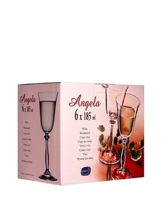 Bohemia Crystal poháre na víno Angela optic Gold line 185 ml (set po 6ks) - 2