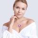 Bohemia Crystal Štrasový náhrdelník srdce s českým křišťálem Preciosa - violet   - 2/4