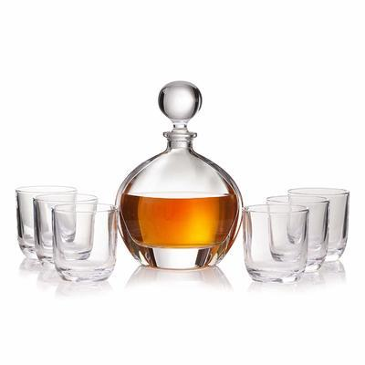 Bohemia Crystal Orbit Whiskey Set (1 decanter + 6 whiskey tumblers) - 2