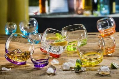 Bohemia Crystal Farbige Whiskygläser Crazy 25250/D4718/390 ml (Set mit 6 Stück) - 2