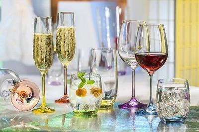 Bohemia Crystal Farbige Champagnergläser Rainbow 40729/D4641/190 ml (Set mit 6 Stück) - 2