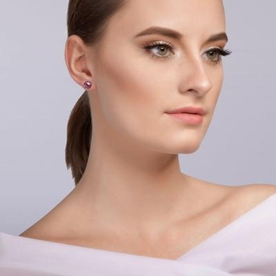 Bohemia Crystal Carlyn Surgical Steel Earrings with Preciosa Crystal - Chrome 7235 40 - 2