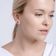 Bohemia Crystal Lyra Silver Earrings with Cubic Zirconia Preciosa 5265 56. - 2/4