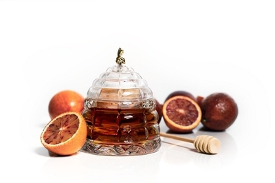 Bohemia Crystal Beehive Covered Honey Box 53312/69710 / 118mm - 2