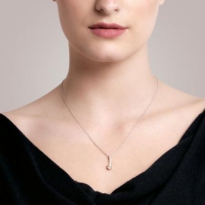 Bohemia Crystal Tilia Silver Pendant with Preciosa Cubic Zirconia, SV. Peach 5281 61 - 2