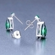 Bohemia Crystal Green Tree of Life Silver Cubic Zirconia Earrings 5221 66 - Green - 2/4