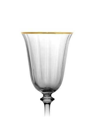 Bohemia Crystal poháre na víno Angela optic Gold line 185 ml (set po 6ks) - 3