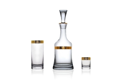 Bohemia Crystal whiskey carafe 1000 ml - 3