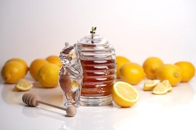 Bohemia Crystal Covered Honey Box Bear 53313/69710 / 150mm - 3