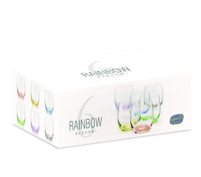 Bohemia Crystal Barevné sklenice na whisky Rainbow 25180/D4662/300ml (set po 6ks) - 3