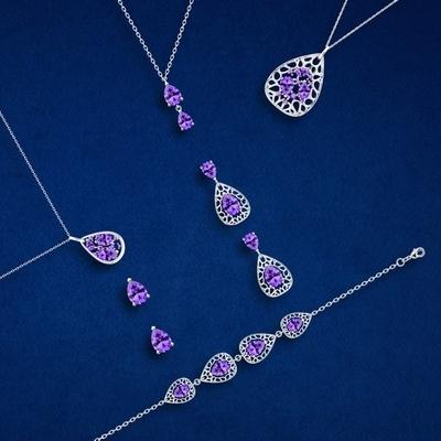 Bohemia Crystal Lyra Silver Earrings with Cubic Zirconia Preciosa 5265 56. - 3